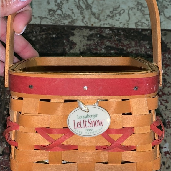 Longaberger Christmas Basket.Longaberger Christmas Basket